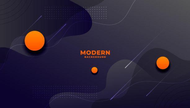 dark modern fluid style background with orange circles