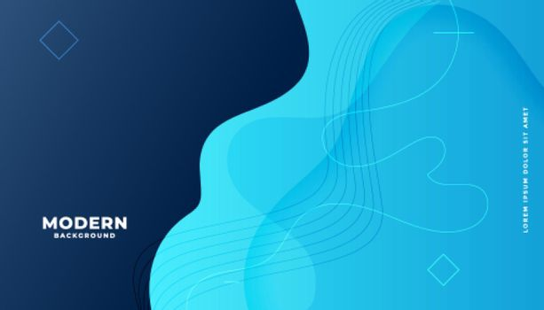 modern blue fluid gradient background with curvy shapes