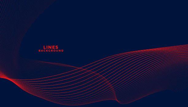 dark background with red flowing wavy lines design
