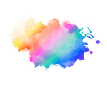 rainbow color abstract watercolor stain texture background