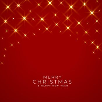 merry christmas sparkle lights red background design