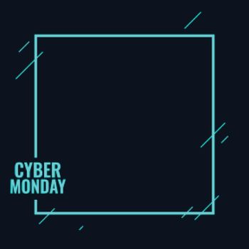 Stylish cyber monday tech background for discount