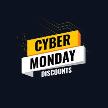 Cyber monday deals tech background for online shopping