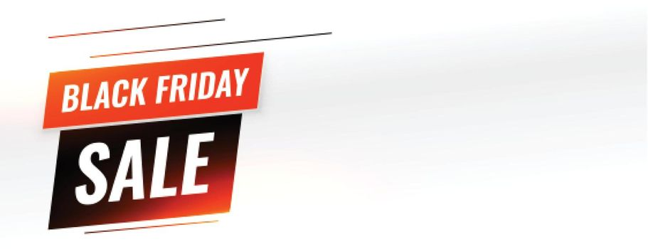 Black friday sale banner with text space