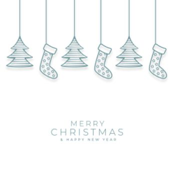 merry christmas background with decorative xmas elements