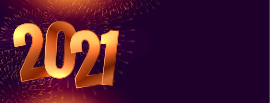 Golden new year 2021 sparkle on black background