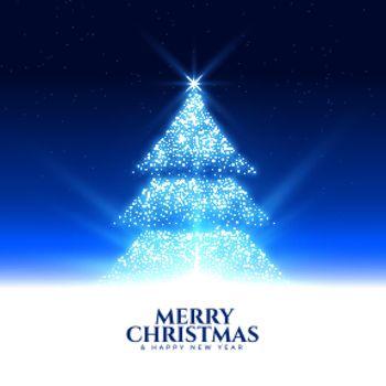sparkling glowing christmas tree night scene background