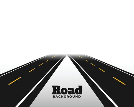 asphat road in perspective horizon background