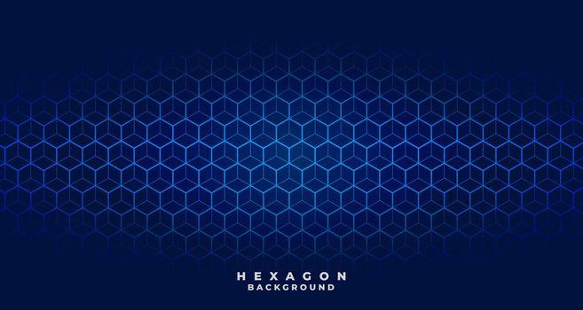 blue tech hexagonal pattern background design