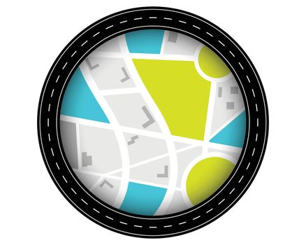 circular road pathway route journey background
