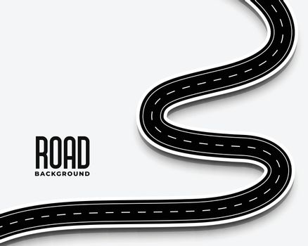 curve winding road pathway in 3d style design