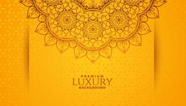 ethnic arabesque style mandala pattern background