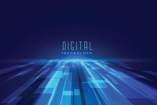 futuristic digital floor technology perspective background
