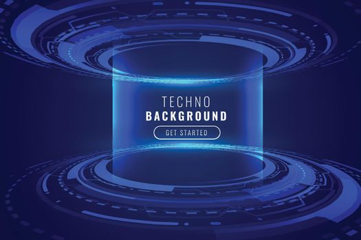 futuristic glowing technology holographic background design