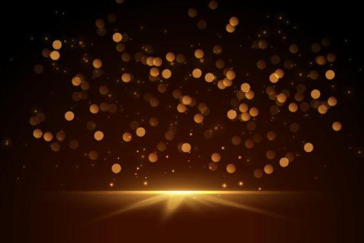 glittering bokeh sparkles lights background design