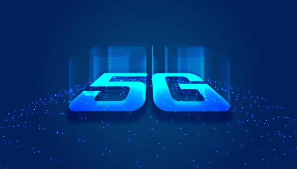 high speed 5th generation technology concept background