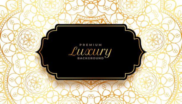 luxury ornamental decorative background in golden color