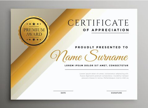 modern diploma certificate template in stylish theme