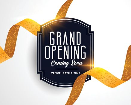 nice grand opening golden ribbon card template