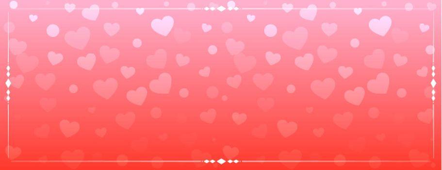 shiny hearts pattern banner design