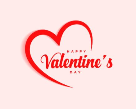 simple happy valentines day celebration background design