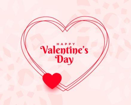 stylish valentines day wishes card background