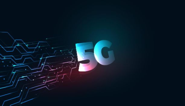 superfast high speed 5th generation 5g technology concept