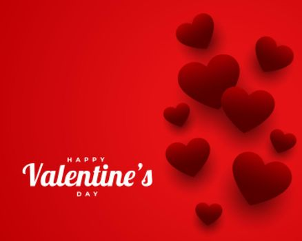 valentines day red theme greeting design