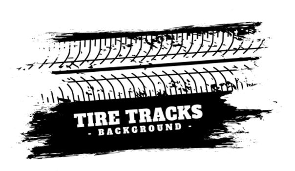 absract vehicle tire track impression background