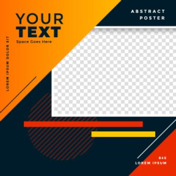 abstract social post banner in geometric style