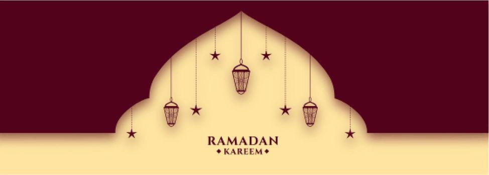 beautiful ramadan kareem holy month festival banner design