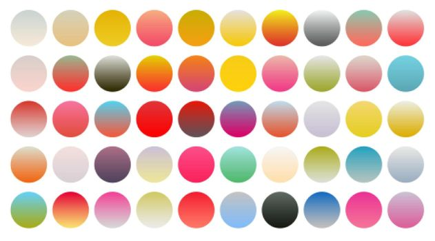 big set of vibrant colorful gradient