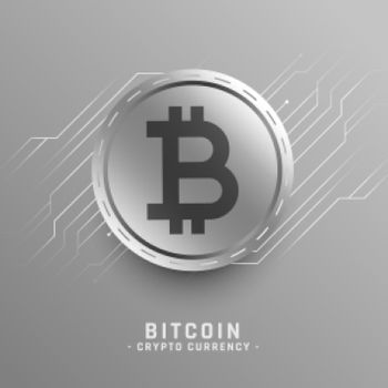 bitcoin technology concept with circuit diagram