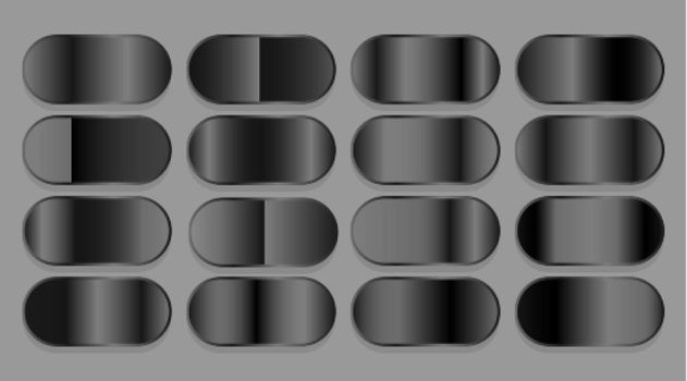 black dark shiny gradient set