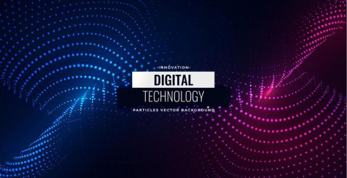 digital particles flowing background design
