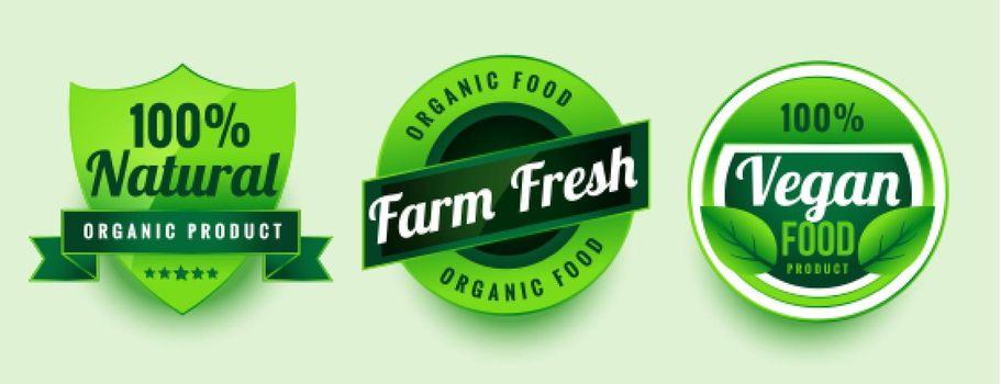 farm fresh vegan food labels set