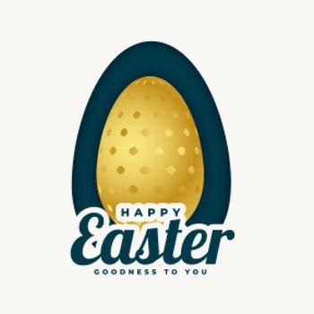 golden easter egg background design