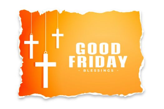 good friday background in torn paper style