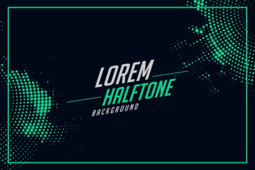 halftone background in turquoise color
