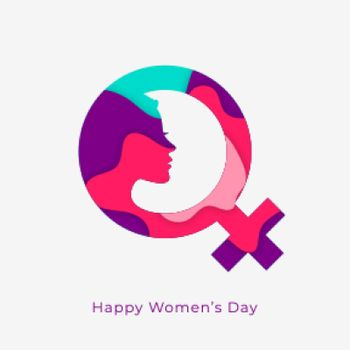 happy womens day concept design with female symbol