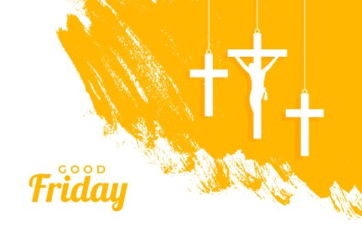 holy good friday event background with hanging crosses