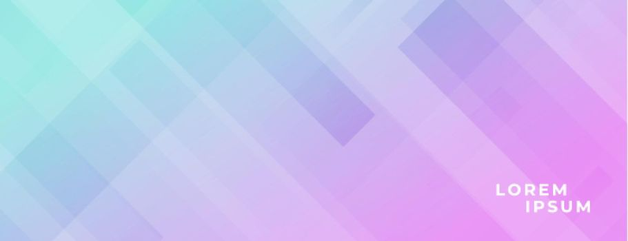 modern banner with diagonal lines effect and vibrant colors