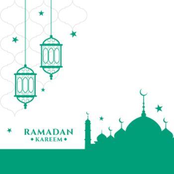 muslim ramadan kareem festival greeting design