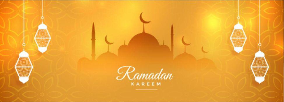 nice ramadan kareem month celebration banner design