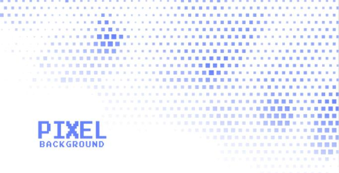 pixel halftone background in blue color