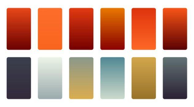 precious color gradients swatch set