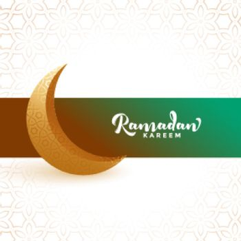 ramadan kareem fasting month greeting with crescent moon