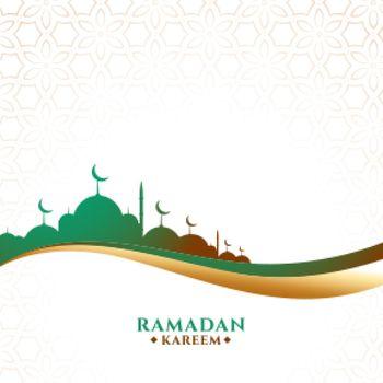 ramadan kareem festival greeting in wavy style