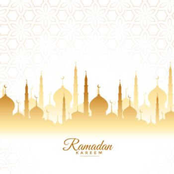 ramadan kareem mosque greeting design