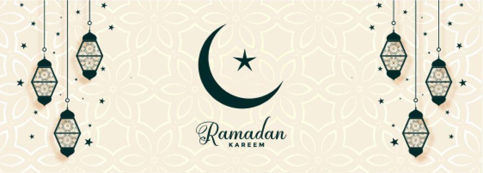 ramadan kareem religious banner with islamic decoration